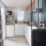 Location de mobilhome 2 chambres Loire Atlantique : cuisine
